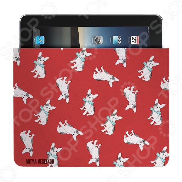 Чехол для iPad Mitya Veselkov «Бульдожки» чехлол для ipad iphone mitya veselkov чехол для ipad райский сад ip 08