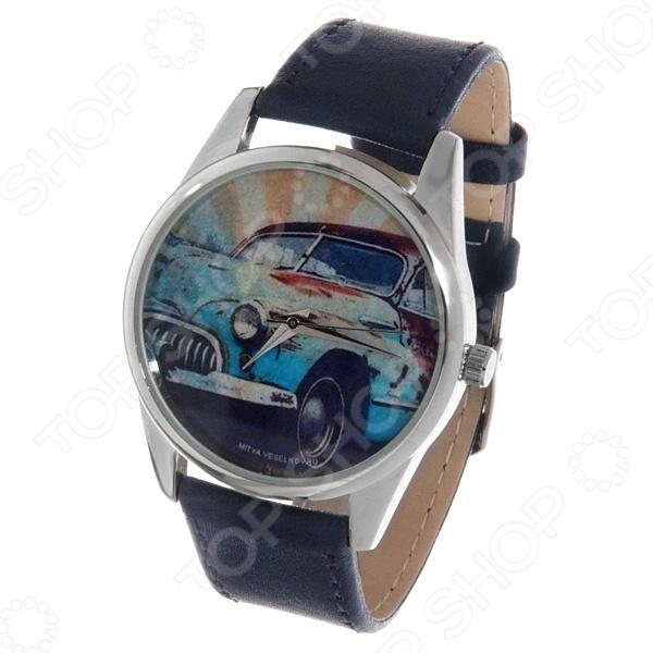 Часы наручные Mitya Veselkov «Ретро-автомобиль» Color часы наручные mitya veselkov райский сад color