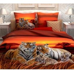 фото Комплект постельного белья Унисон «Закат в Саванне». Семейный