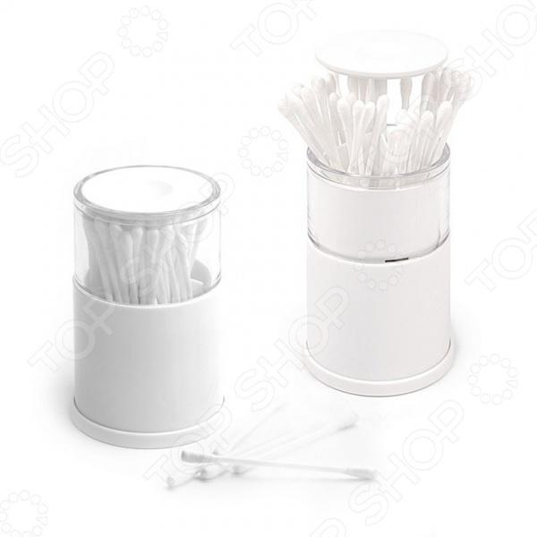 Контейнер для ватных палочек Balvi Pop-up roma белый контейнер для ватных палочек 976434