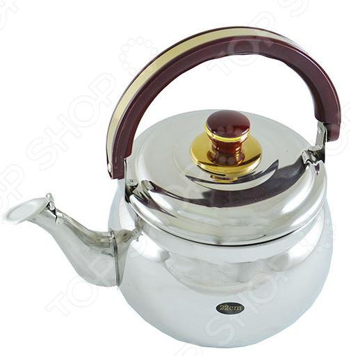 Чайник металлический Bekker BK-S365MЧайники со свистком и без свистка<br>Чайник металлический Bekker BK-S365M это объемный чайник на 3,5 л, который сделан из нержавеющей стали. На носик чайника можно прикрепить свисток. Ручка пластиковая, оснащена специальным участком, за который удобно брать. Крышка выполнена в одном дизайне с чайником. Можно отметить следующие преимущества подобного чайника по сравнению с электрическими:  быстрый нагрев воды;  большой объем;  долговечность покрытия;  расходы на подогрев воды намного меньше;  гигиеничность, благодаря металлическому корпусу.<br>