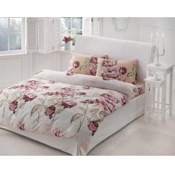 фото Комплект постельного белья TAC Rebecca. 2-спальный. Цвет: бордовый