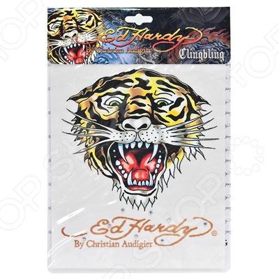 Наклейка со стразами ED Hardy EH-00227 Tiger. Размер: 18х23 см