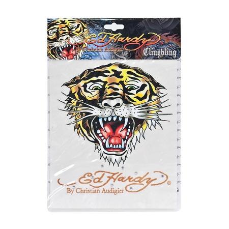 Купить Наклейка со стразами ED Hardy EH-00227 Tiger. Размер: 18х23 см