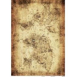 Купить Карта декупажная Кустарь «Старинная карта мира №4»