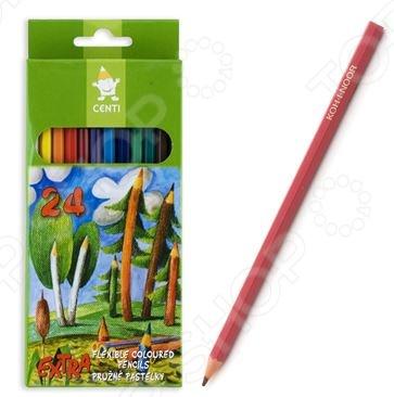 Набор карандашей гибких Koh-I-Noor «Центы»Карандаши<br>Набор карандашей гибких Koh-I-Noor Центы - качественный канцелярский набор, который включает в себя 12 карандашей в картонной коробке. Эргономичный корпус карандаша выполнен из высококачественных материалов. Специальная обработка позволяет легко затачивать карандаши. Карандаш удобно держать в руке, мягкий грифель обеспечивает яркие и насыщенные цвета. Карандаш особо гибкий.<br>