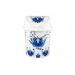 Купить Контейнер для мусора Violet 0408/78 «Гжель»