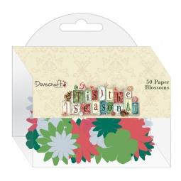фото Набор цветочков бумажных Trimcraft Это рождество!