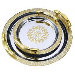 фото Набор круглых подносов Wellberg «Королевская роскошь»