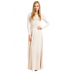 фото Платье Mondigo 7003. Цвет: бежевый. Размер одежды: 44
