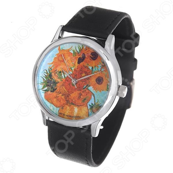 Часы наручные Mitya Veselkov «Подсолнухи Ван Гога» MV чехол для ipad mitya veselkov подсолнухи ван гога