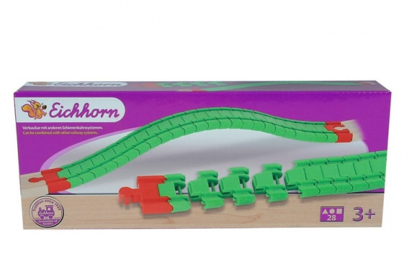 Набор пластиковых элементов Eichhorn «Гибкие рельсы»