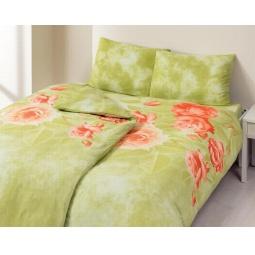 фото Комплект постельного белья TAC Escade. Семейный. Цвет: зеленый