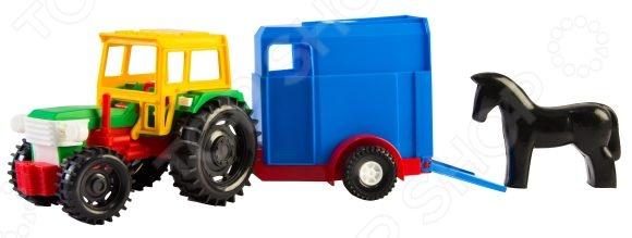 Машинка игрушечная Тигрес «Трактор с прицепом» трактор с прицепом св ход 36см dickie