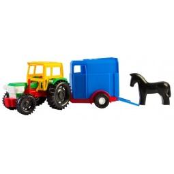 фото Машинка игрушечная Тигрес «Трактор с прицепом». В ассортименте