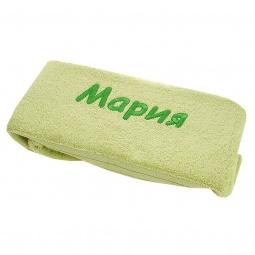 фото Полотенце подарочное с вышивкой TAC Мария. Цвет: зеленый