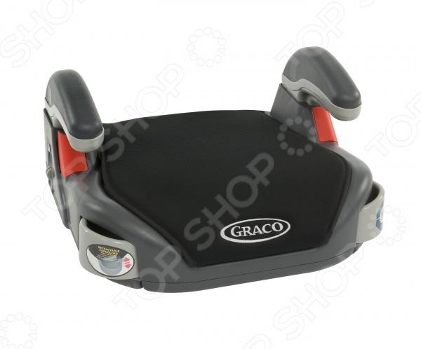 Бустер GRACO для автоАвтотовары для детей<br>Бустер GRACO для авто комфортное и удобное приспособление, которое станет отличным решением для деток, которые уже переросли детское автомобильное кресло. Бустер данной модели имеет мягкое покрытие и удобные подлокотники, которые обеспечат дополнительный комфорт во время поездки. Изделие устанавливается на заднем или переднем сиденье с помощью ремня безопасности. Ребенок надежно фиксируется на бустере при помощи штатных автомобильных ремней безопасности. Бустер очень прост в уходе. Чехол легко снимается и моется. Для большего удобства предусмотрены выдвигающиеся подстаканники. С этим уникальным приспособлением ваш ребенок будет чувствовать себя комфортно и удобно даже в путешествиях на далекие расстояния.<br>