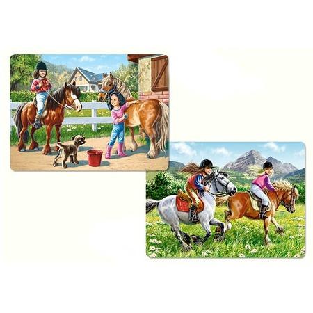 Купить Набор пазлов 2 в 1 Castorland «Верхом на лошади»