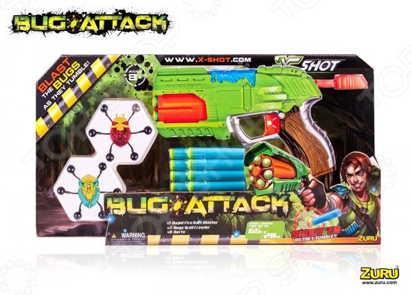 Бластер с аксессуарами Xshot «Атака пауков. Быстрый Огонь» кордщетка атака 26588