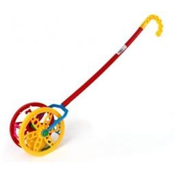 Купить Каталка для малыша на палочке Каролина «Колесо»