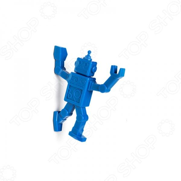 Крючок магнитный Peleg Design RobohookДругие товары для хозяйства<br>Крючок магнитный Peleg Design Robohook дизайнерская модель для удобного хранения мелких вещей. С таким крючком ваши вещи никогда не пропадут. Его можно повесить на дверцу холодильника как декорацию или забить гвоздем на стенку, чтобы придерживал более тяжелые предметы.<br>