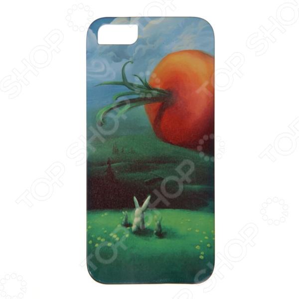 где купить Чехол для iPhone 5 Mitya Veselkov «Заяц и морковка» дешево