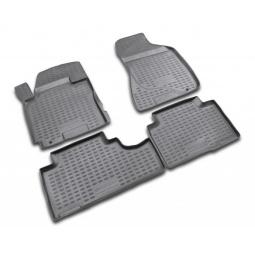 Комплект ковриков в салон автомобиля Novline-Autofamily Nissan Navara 2010 пикап. Цвет: черный - фото 11