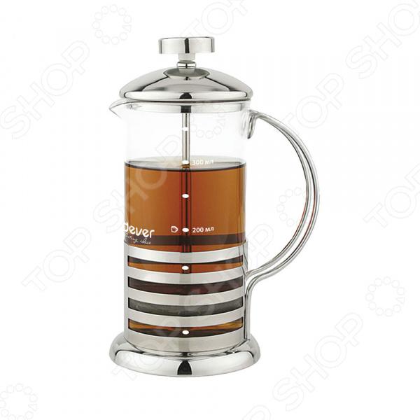 Френч-пресс Endever EcoLife SteelФренч-прессы<br>Френч-пресс Endever EcoLife Steel используется для приготовления чая и кофе путем настаивания и последующего отжима заваренного напитка при помощи специального поршня. Корпус модели выполнен из нержавеющей стали, а колба из, устойчивого к перепадам температур, стекла. Поршень, в свою очередь, изготовлен из, отвечающей всем гигиеническим нормам, медицинской стали. Носик френч-пресса имеет особую форму, препятствующую образованию подтеков. Для приготовления напитка вам необходимо:  засыпать в колбу френч-пресса чай, кофе или травы;  залить содержимое горячей водой;  дать напитку настояться в течение нескольких минут;  опустить поршень и подождать пока осадок опустится на дно.<br>
