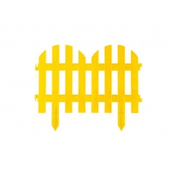 фото Забор декоративный Grinda «Палисадник» 422205. Цвет: желтый