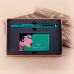фото Набор подарочный: ручка и визитница Феникс-Презент 28462