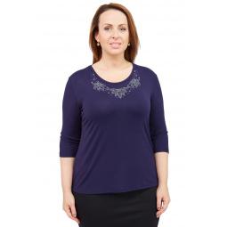 Комплект блузок Матекс «Венский бал». Цвет: синий, бежевый, красный