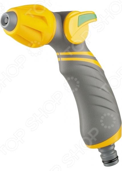 Пистолет-распылитель PALISAD LUXE 65183Пистолеты для полива<br>Пистолет-распылитель PALISAD LUXE 65183 функциональное приспособление, которые облегчает процесс полива огорода, сада или приусадебного участка. Пистолет-распылитель выполнен из ударопрочного материала, который гарантирует долгий срок эксплуатации приспособления. Плавная регулировка режимов позволяет выбрать наиболее подходящий полив для любого типа посадок: жесткую струю, распыление типа туман или конусное распыление. Эргономичная конструкция позволяет удобно его держать одной рукой.<br>