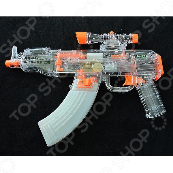 Водяной пистолет Zhorya на бат. свет звук 37х5х21см
