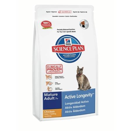 Купить Корм сухой для пожилых кошек Hill's Science Plan Mature Adult 7+ с курицей
