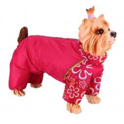 Купить Комбинезон-дождевик для собак DEZZIE «Такса карликовая». Цвет: красный