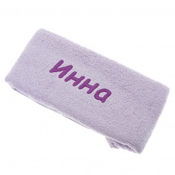 фото Полотенце подарочное с вышивкой TAC Инна. Цвет: сиреневый