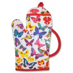 фото Рукавица-чайник BONITA «Бабочки»