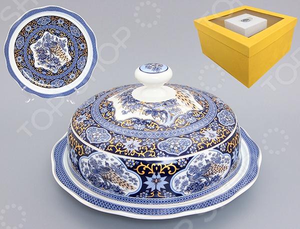 Блюдо с крышкой Elan Gallery «Павлин синий» elan gallery блюдо под оливки павлин на красном