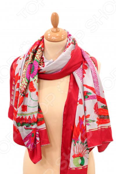 Платок Milana Style «Розмарин»Платки. Палантины<br>Платок Milana Style Розмарин элегантный аксессуар, который подчеркнет ваш женственный образ. Этот платок прекрасно подойдет в качестве легкой накидки к платью или другим нарядам. Создавайте каждый день новые образы, сочетая его с разной одеждой.  Современный дизайн и стильный крой.  Идеально подойдет для любого возраста.  Будет отлично гармонировать с любыми предметами вашего гардероба. Платок выполнен из приятного на ощупь искусственного шелка.<br>