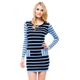 фото Туника Mondigo 9873. Цвет: темно-синий. Размер одежды: 44