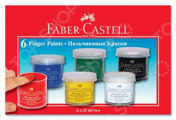 Краски пальчиковые Faber-Castell 160402 eberhard faber краски для рисования на лице 4 цвета животные