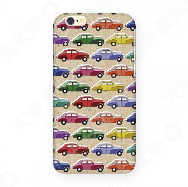 Чехол для iPhone 6 Mitya Veselkov «Цветные машинки» цена 2017