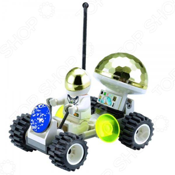Конструктор для мальчика Brick 503 станет отличным подарком для юного конструктора! Игровой набор не только обучает и развлекает, но и помогает развивать мелкую моторику рук, логическое мышление и воображение ребенка. Комплект содержит 36 деталей, с помощью которых можно собрать луноход, чтобы помочь космонавтам удобнее передвигаться по поверхности других планет! Все детали выполнены из нетоксичных полимерных материалов, поэтому полностью безопасны для ребенка. Рекомендуется для детишек от 3 лет и старше.