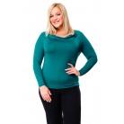 Фото Кофта Mondigo XL 1464. Цвет: темно-зеленый. Размер одежды: 48