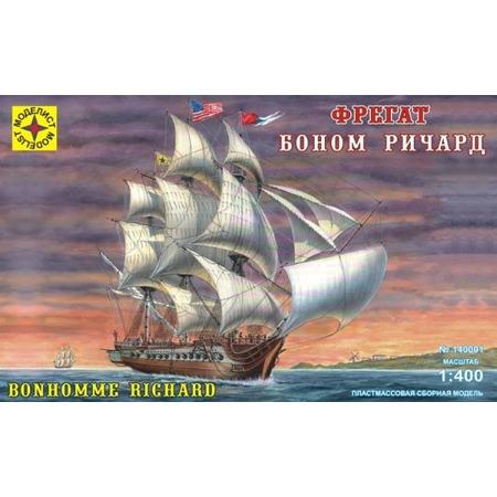 Купить Сборная модель морского судна Моделист фрегат «Боном Ричард» 20893