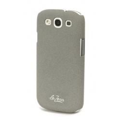 фото Крышка защитная LaZarr Soft Touch для Samsung Galaxy S3 i9300. Цвет: серый