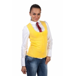 фото Жилет Mondigo 9402. Цвет: желтый. Размер одежды: 44
