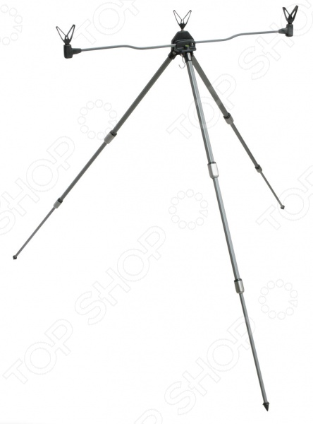 Стойка под удочки Cottus Rod Pod Feeder это удобная телескопическая стойка на которой вы можете установить три удилища. Длина стойки 100 см, при этом для транспортировки складывается до 50 см. Если вы любите рыбачить сидя в кресле, то подобная стойка может оказаться очень полезной, ведь не придется нагибаться за удочками.