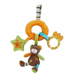 фото Мягкая игрушка развивающая Жирафики «Мишка с подвесками»