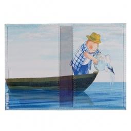 фото Обложка для паспорта двухсторонняя Mitya Veselkov «Добрый рыбак»